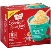 (6 Pack) Duncan Hines® Perfect Size for One® Funtastic Confetti Cake Mix 4-2.29 oz. Box