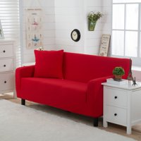 Stretch Sofa Covers,1/2/3/4 SeatsSolid Color Chair Loveseat Couch Slipcovers Protector