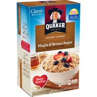 (4 Pack) Quaker Instant Oatmeal, Maple & Brown Sugar, 10 Packets