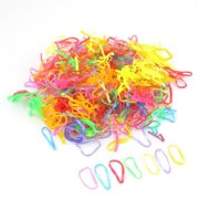 600pcs Mini Oval Multicolor Elastic Ponytail Hair Ties Rubber Bands a1900f4b37b