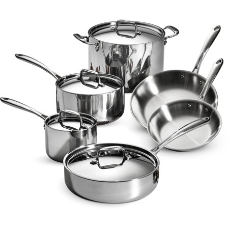 Tramontina 10 Piece Stainless Steel Tri Ply Clad Cookware