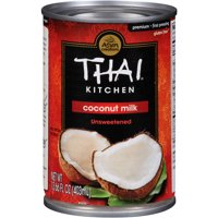 (4 Pack) Thai Kitchen Gluten Free Unsweetened Coconut Milk, 13.66 fl oz