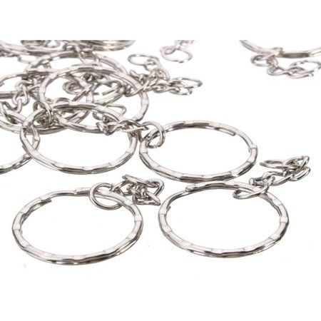 Ncaa Keychain Ring - 50pcs Metal Split Key Ring Keyring Keychain Handbag Key Chains Key Holder 2.2