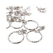 8d4aa7cd03 50pcs Metal Split Key Ring Keyring Keychain Handbag Key Chains Key Holder  2.2