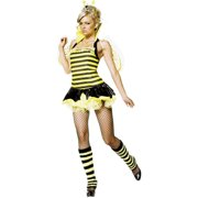 ee60b19b4 Sassy Bumble Bee Queen 4 Piece Women s Adult Halloween Costume