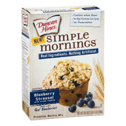 Duncan Hines Simple Mornings Blueberry Streusel with Crumb Topping Muffin Mix, 20.5 oz Box