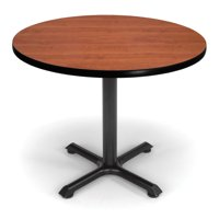 """OFM Model XT36RD 36"""" Multi-Purpose Round Table with X-Style Pedestal Base, Cherry"""