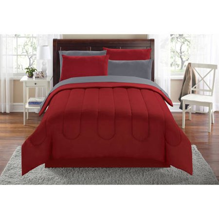 Mainstays Solid Bed in a Bag Coordinated Bedding