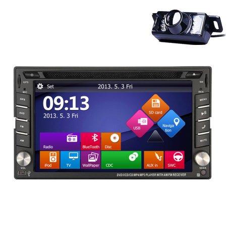 GPS Navigation SD Video PC System Radio Receiver Car Stereo Autoradio FM AM Audio USB 2 Din Car DVD Player In Dash Head Unit BT Sub AMP (Factory Head Unit)
