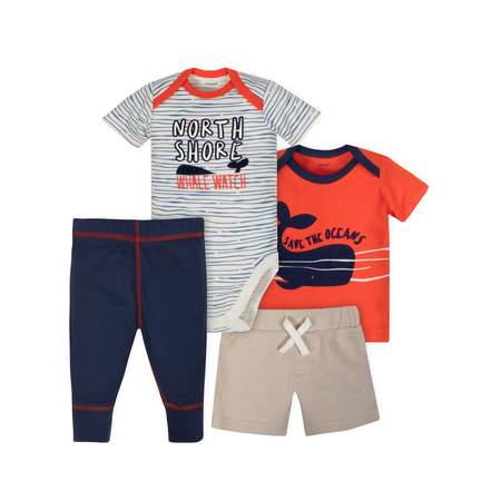 Bodysuit, Shirt, Short and Pant Mix N Match Outfit Set, 4pc (Baby Boys) - Cool Baby Outfit