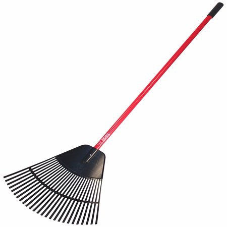 Bully Tools 92624 24-Inch Poly Lawn and Leaf Rake with Fiberglass Handle 24 Inch Aluminum Maintenance Rake