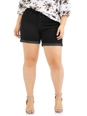 Rock & Stone Women's Plus Super Stretch Cuffed Denim Short