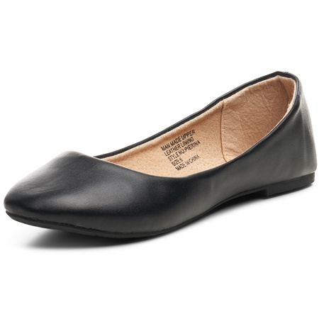Alpine Swiss Pierina Womens Ballet Flats Leather Lined Classic Slip On - Blue Patent Leather Footwear