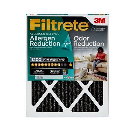 Filtrete 18x20x1, Allergen Plus Odor Reduction HVAC Furnace Air Filter, 1200 MPR, 1