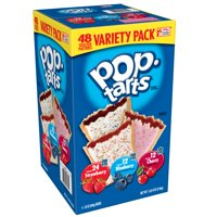 Kellogg's Pop-Tarts Breakfast Toaster PastriesVariety Pack Frosted Strawberry / Blueberry / Cherry 88 oz 48 Ct