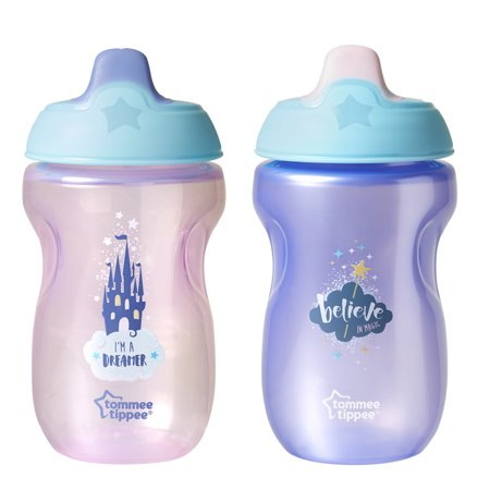 - Tommee Tippee Soft Spout Sippy Cup, 9+ mos - 2 pack, 10 oz