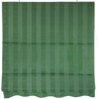 Striped Roman Shades, Green