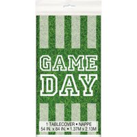 (4 pack) Game Day Football Plastic Tablecloth, 84 x 54 in