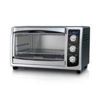 BLACK+DECKER 6-Slice Toaster Oven, Black/Silver, TO1675B