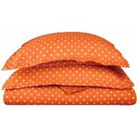 Superior 600 Thread Count Wrinkle Resistant Polka Dots Duvet Cover Set