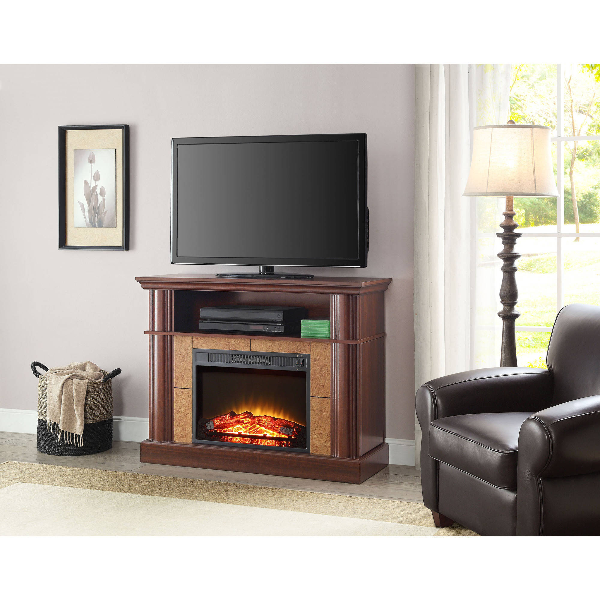 Better Homes and Gardens Ashwood Road Media Electric Fireplace for ...