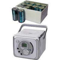 Jensen Cd-555A Portable Bluetooth Music System with CD Player, Includes 24 C Batteries