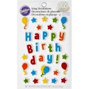 Wilton Happy Birthday Icing Decorations, 33-Count