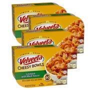 (4 Pack) Kraft Velveeta Cheesy Bowls Lasagna with Meat Sauce, 9 oz Sleeve