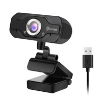 720P HD Laptop Webcam, EIVOTOR USB Mini Webcam Camera with Built-in Microphone for for Desktop Skype Computer PC Laptop 360-Degree Swivel