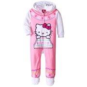 9a83f052e7 Hello Kitty Little Girls  Hooded Fleece Blanket Sleeper