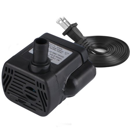 200L/H 4W Submersible Water Pump, Ultra Quiet For Pond, 1.6ft High Lift, Aquarium, Fish Tank Fountain, Powerful Water Pump with 4.9ft (1.5m) Power Cord (Aquarium Pond Water Pump)