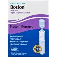 Bausch & Lomb Boston One Step Liquid Enzymatic Cleaner 0.08 fl oz, 12 ct
