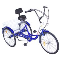 "bike 7 Speed 24"" 3-Wheel Adult Tricycle Gearsmith Blue. ,bicycle tircycle"