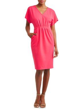 Women's Crepe Cinched Waist Dress