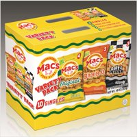 Mac's Original, BBQ, & Salt & Pepper Pork Skin Variety Pack, 1 Oz., 10 Count