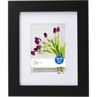 Mainstays Matted Picture Frame, Black