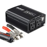 Suaoki Inverter 300w Dc 12v To 110v Ac Car Converter With 4 2a Dual Usb