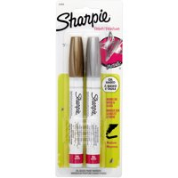 Sharpie Medium Point Oil-Based Paint Markers 2/Pkg-Gold, Silver