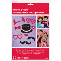 Valentine's Day Photo Booth Props, Assorted 10pk