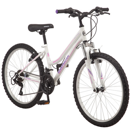 "Roadmaster Granite Peak Girls Mountain Bike, 24"" wheels, White"