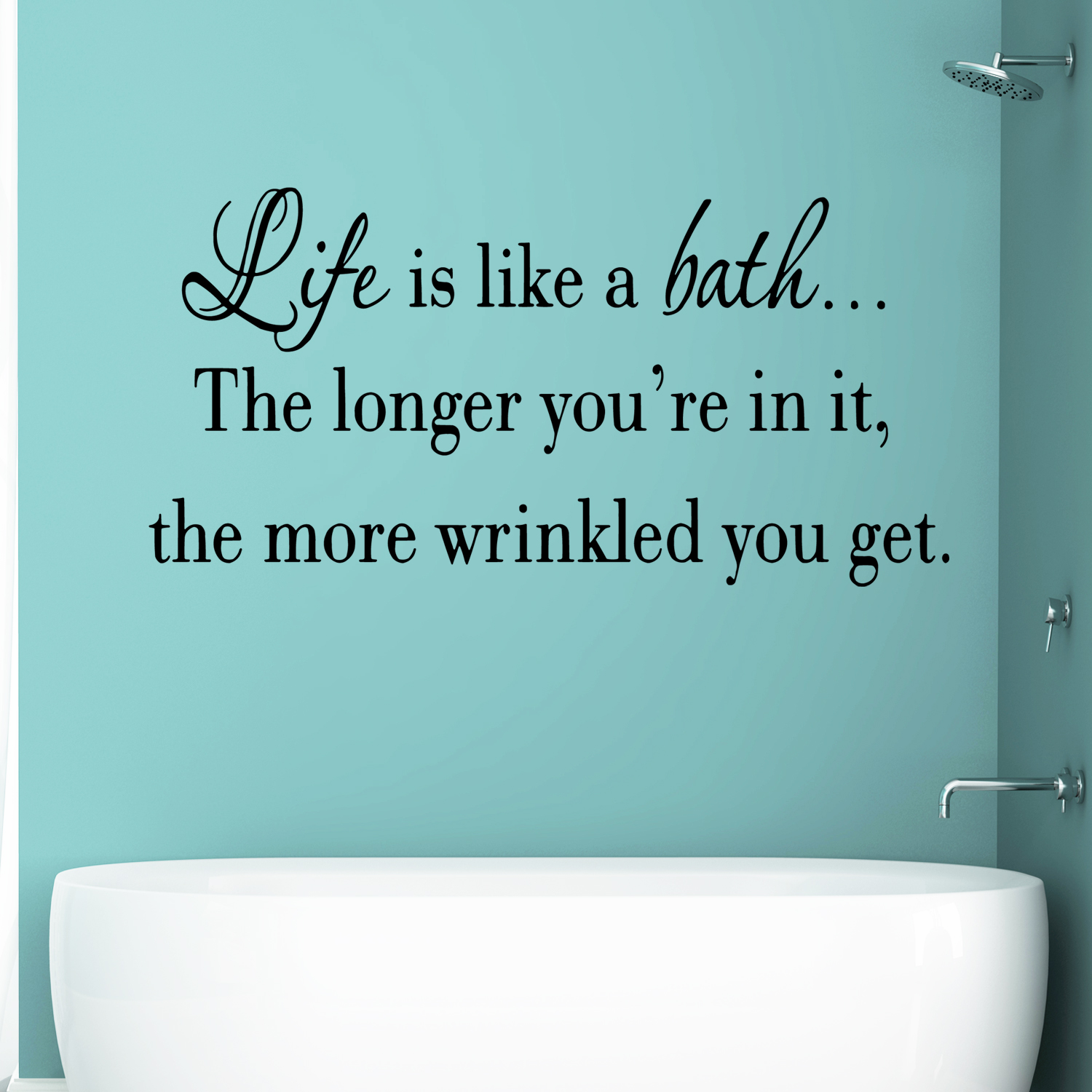 VWAQ Life Is Like A Bath Wall Decal Bathroom Wall Quotes Sayings Vinyl Wall  Art Home