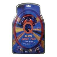 Q Power Super Flex 4 Gauge 3000 Watt Amplifier Wiring Amp Kit   4GAMPKIT-SFLEX