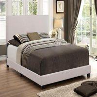 Crown Mark Upholstered Panel Bed in Stone Khaki, Multiple Sizes