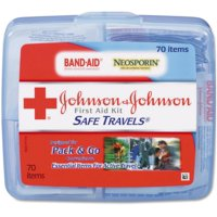 6 Pack - JOHNSON & JOHNSON First Aid Kit Safe Travels 1 Each