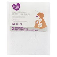 Parent's Choice Reversible Fleece Multi-Use Pads, White, 2 Count