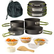 6dce8c30ecb Camping Cookware Pot   Pan Set Mess Kit Backpacking Outdoor Cooking Bowl