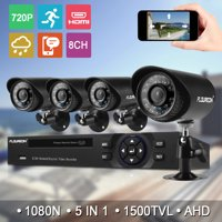 FLOUREON 4CH 1080N HDMI AHD DVR 1500TVL Outdoor 720P CCTV Camera Home Security Surveillance System