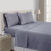 500 Thread Count 100% Pima Cotton Ultra Soft 4 piece Sheet Set , Cal King - Charcoal