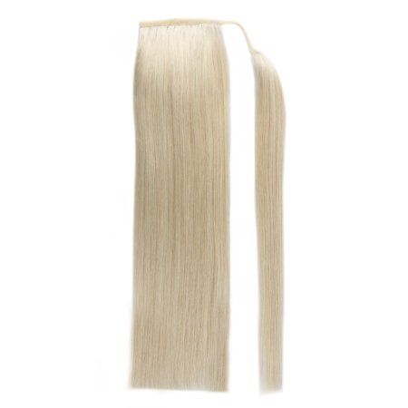 BHF Hair Ponytail Double Drawn Wholesale Brazilian Human Hair Drawstring AccessoriesPonytail 613# Bleach Blonde 16