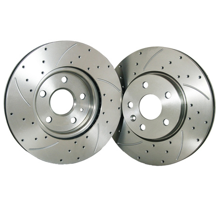 FLPX Rear Proformance Drilled Slotted Brake Rotor Fit Impala Monte Carlo